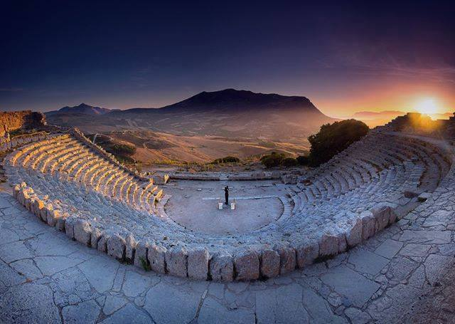 Greek theatre in Segesta, Sicily