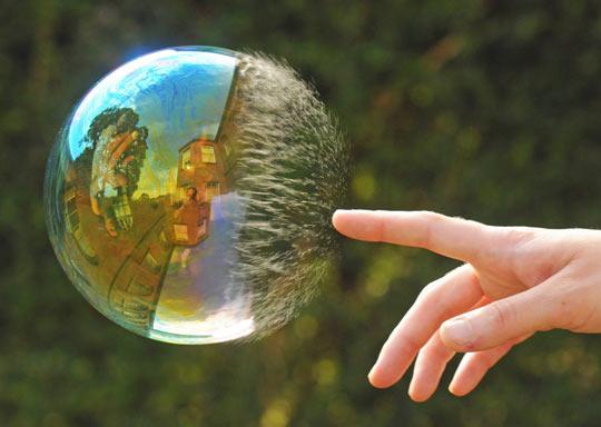Half-Popped Bubble