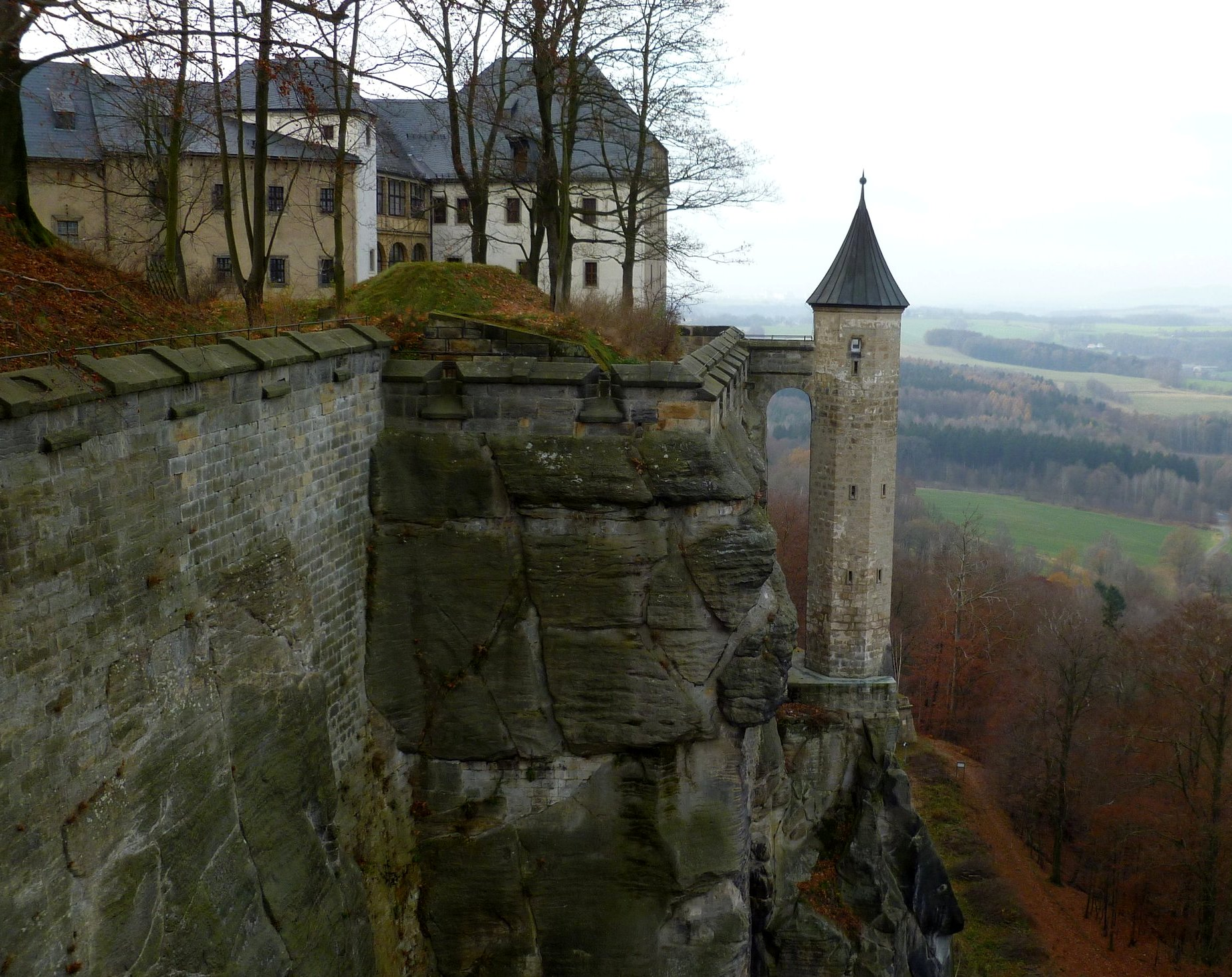 Lookout tower on Königstein Fortress in Germany