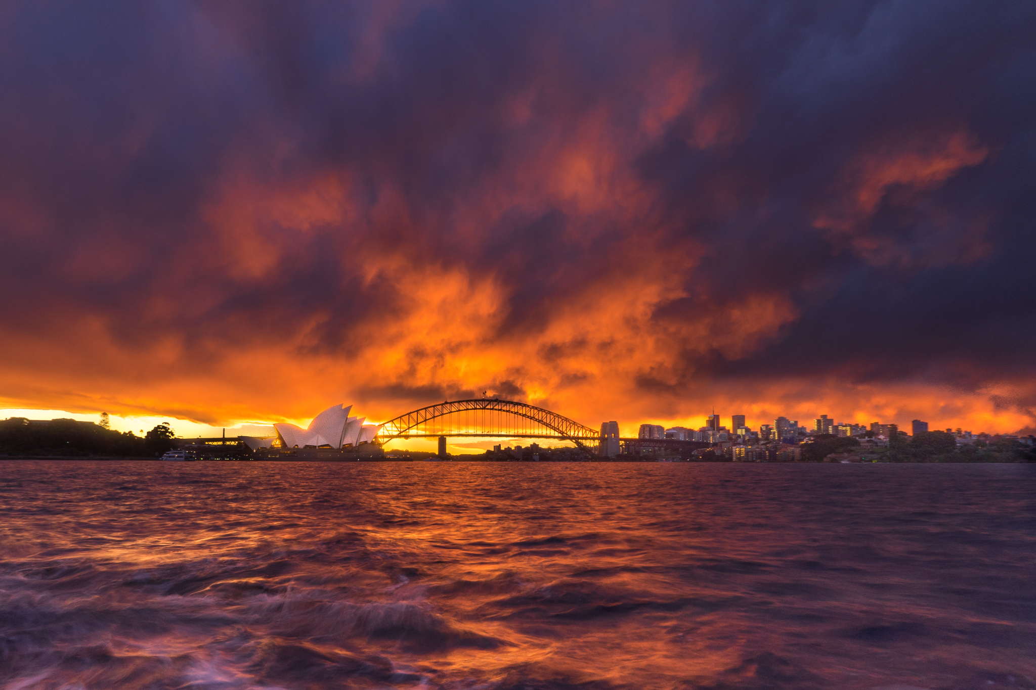 One of those rare Sydney sunsets