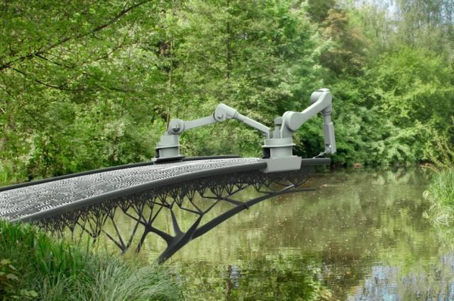 Robots are 3D-Printing Steel Bridges