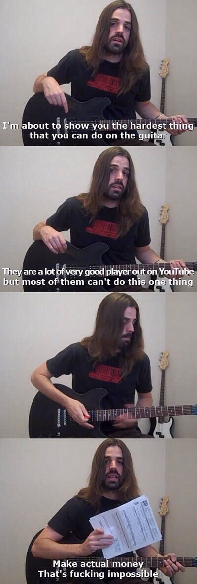 The Hardest Thing About Playing Guitar