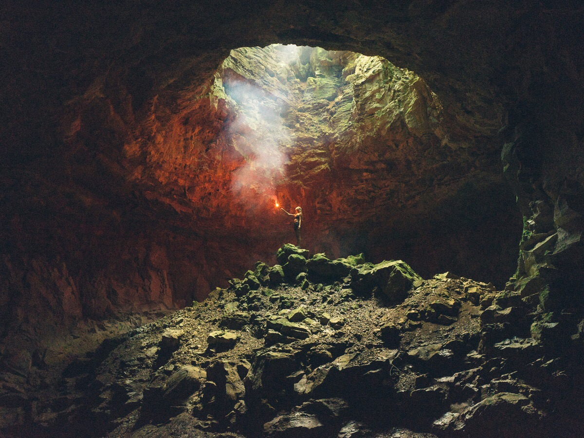 Took this photo of my gf in a cave in Alabama