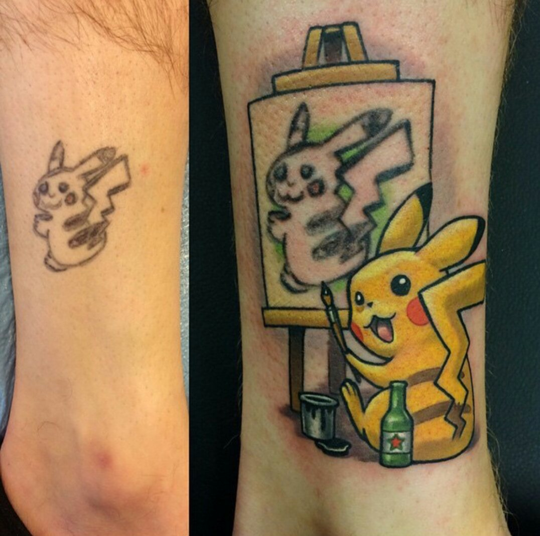 best tattoo cover up I've ever seen