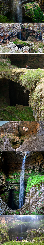 cool-Three-Bridge-cave-waterfall