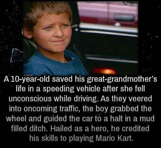 cool-hero-kid-Mario-Kart-skills