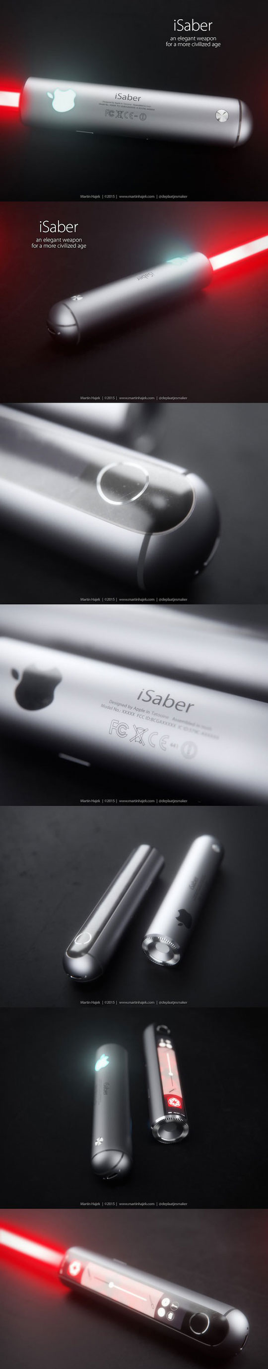 This Is What The iSaber Would Look Like If Apple Made Lightsabers