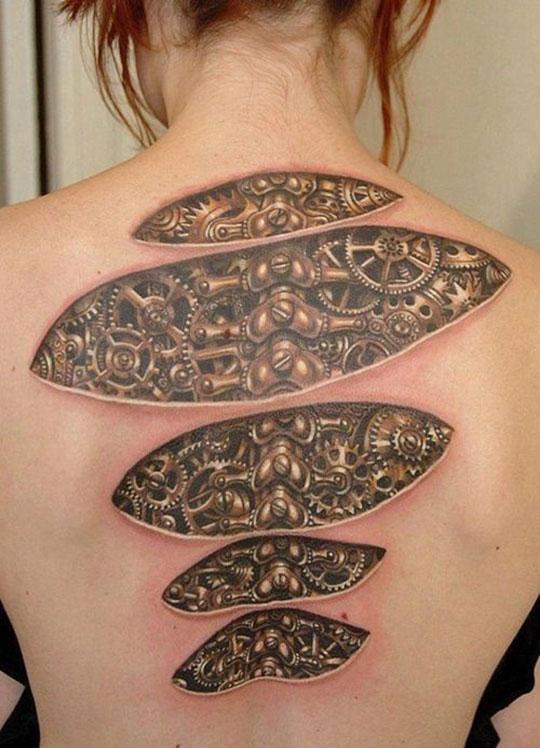 Amazing Biomechanical Tattoo