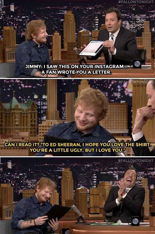 Poor Ed Sheeran