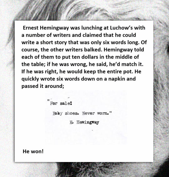 6 Words To Make A Sad Story