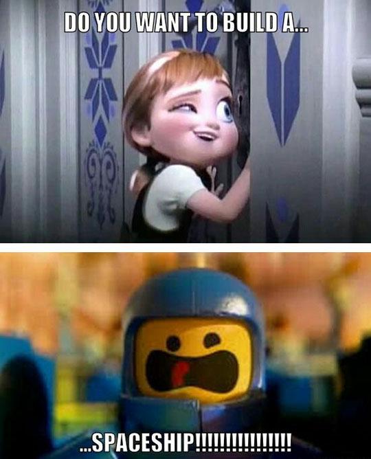 funny-Frozen-song-LEGO-spaceship