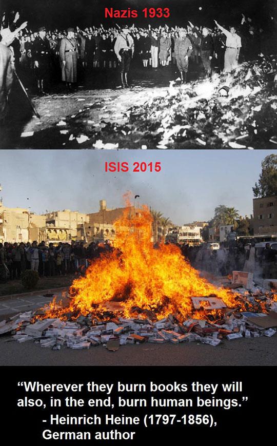 funny-ISIS-burning-books-Hitler