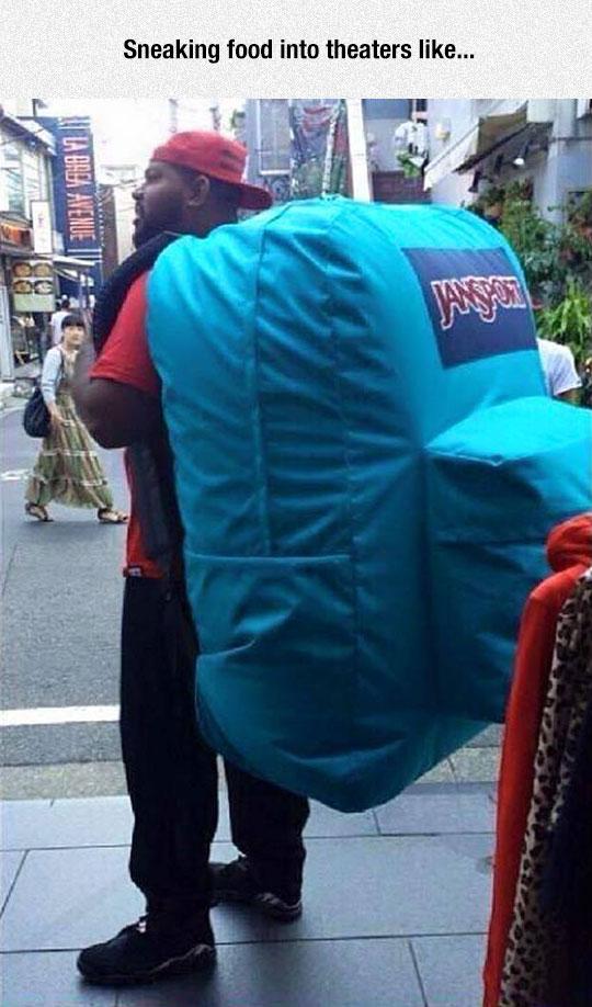funny-Jansport-backpack-giant-street