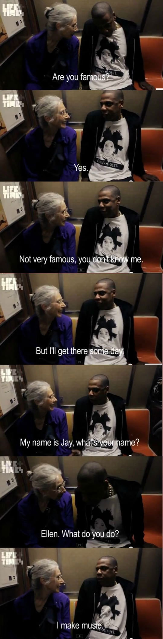 Jay-Z Talking To This Old Lady Is Pretty Damn Adorable