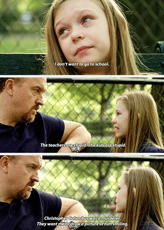 funny-Louie-daughter-school-TV-show