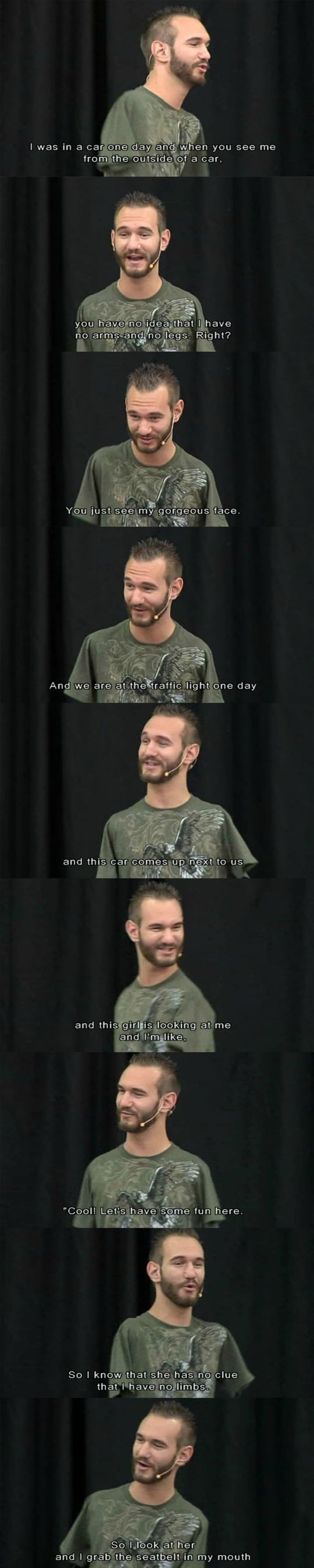 Nick Vujicic Has Sense of Humor