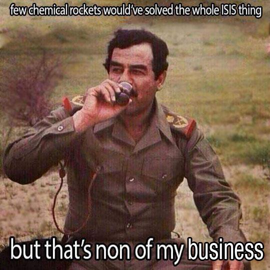 Saddam Is Just Saying