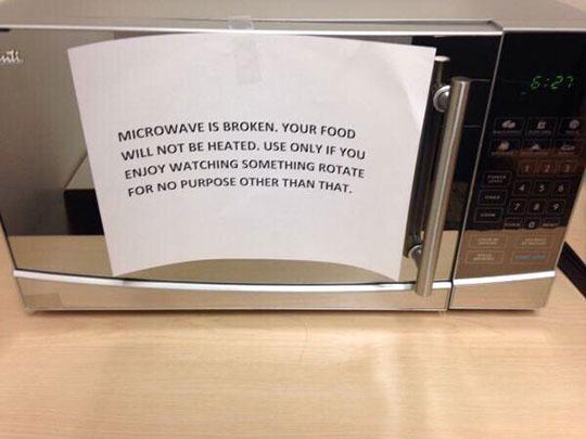 Microwave Is Broken