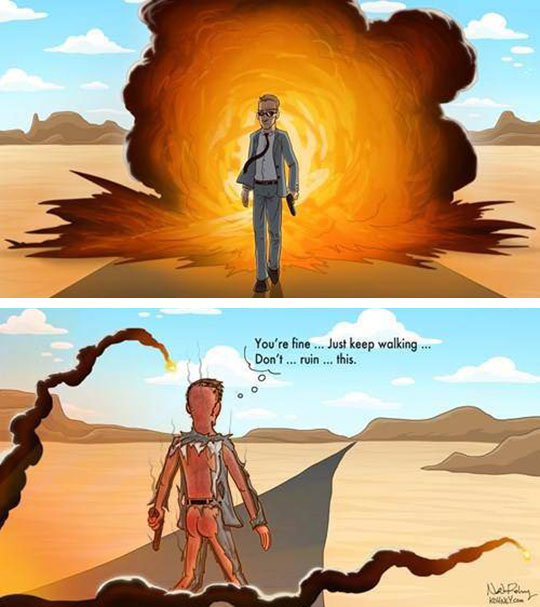 funny-cartoon-walking-away-explosion-burned