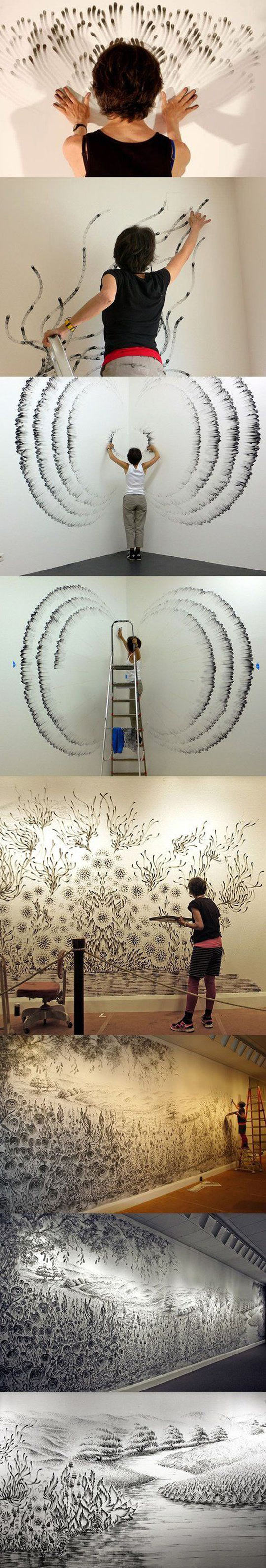 funny-finger-paint-hands-wall