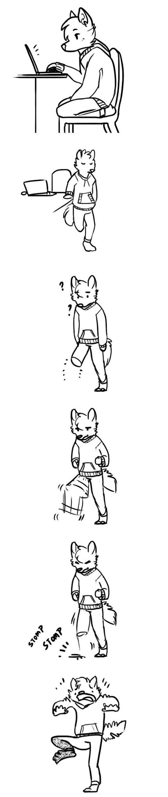 funny-fox-cartoon-sleepy-leg