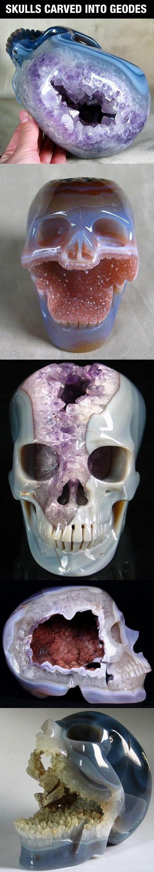 Precious Geode Skulls