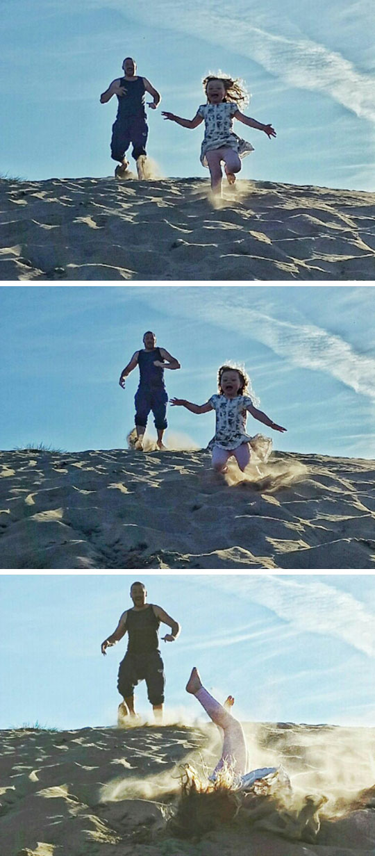 My Daughter And Me At The Beach, Going, Going, Gone
