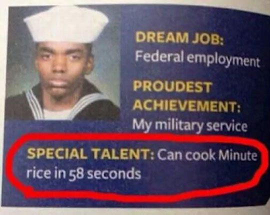 His Special Talent