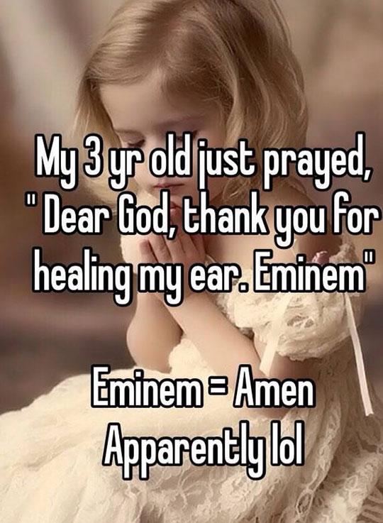 At Least She Said Eminem And Not Kanye