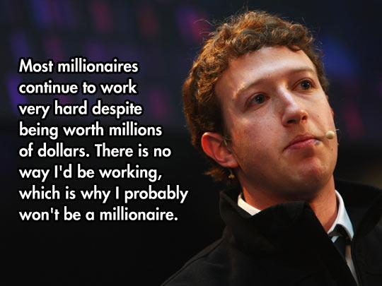 Millionaires Keep Working