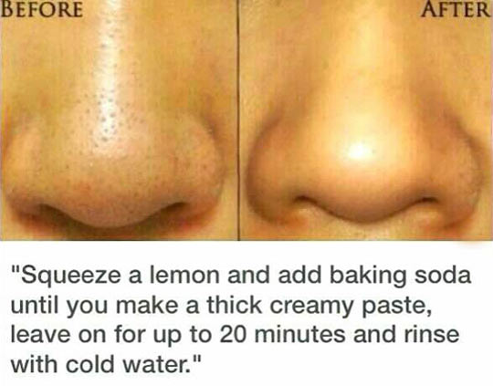 funny-nose-clean-lemon-baking-soda