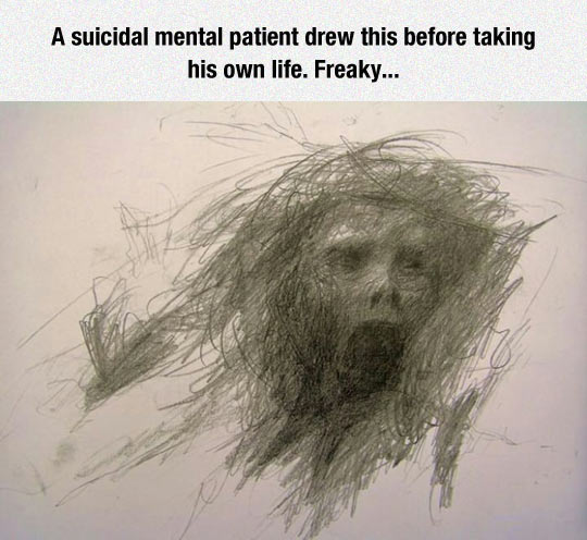 funny-pencil-drawing-face-death