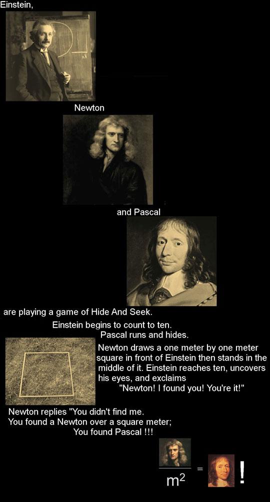Einstein, Newton And Pascal