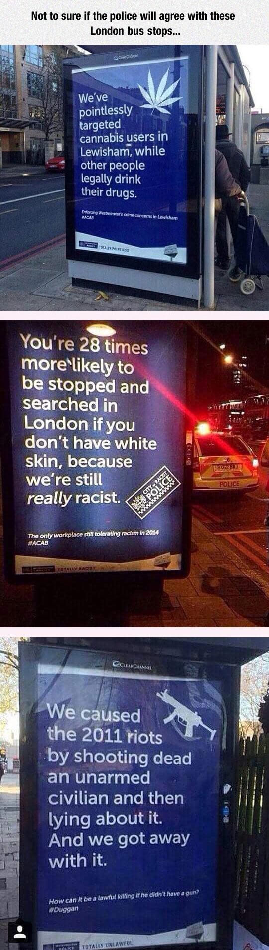 London Bus Stops Send A Message