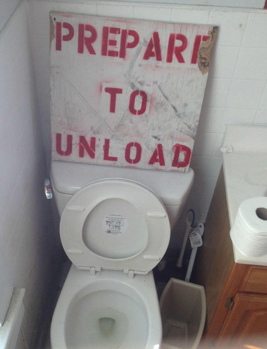 I Need This Sign In My Bathroom
