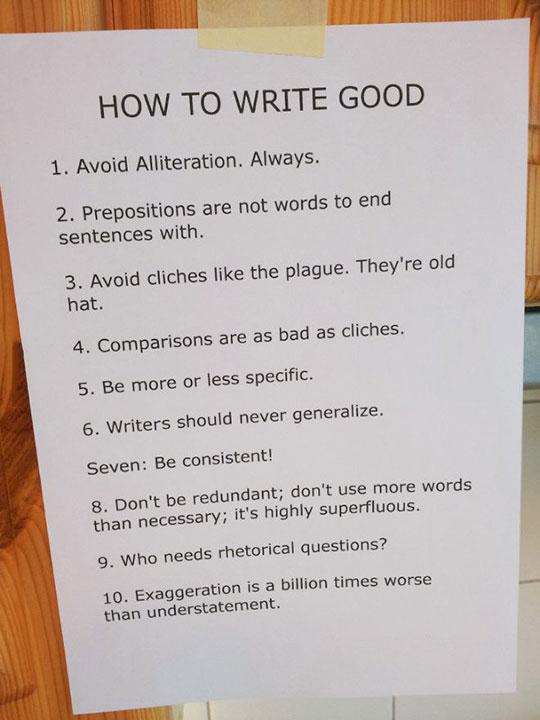 funny-writing-advice-wrong