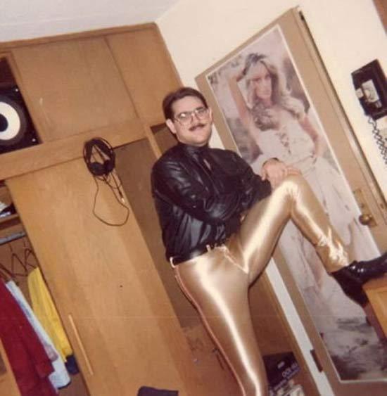 man-dorm-room-gold-lame-pants-vintage-1970s-creepy-family