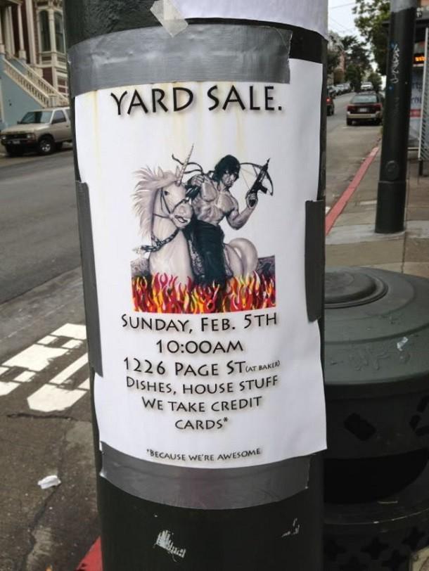 rambo-on-horse-garage-sale-sign-610x812