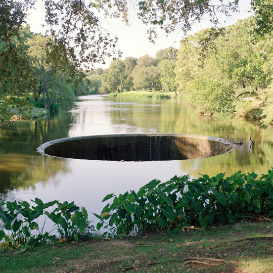 A hole in the river