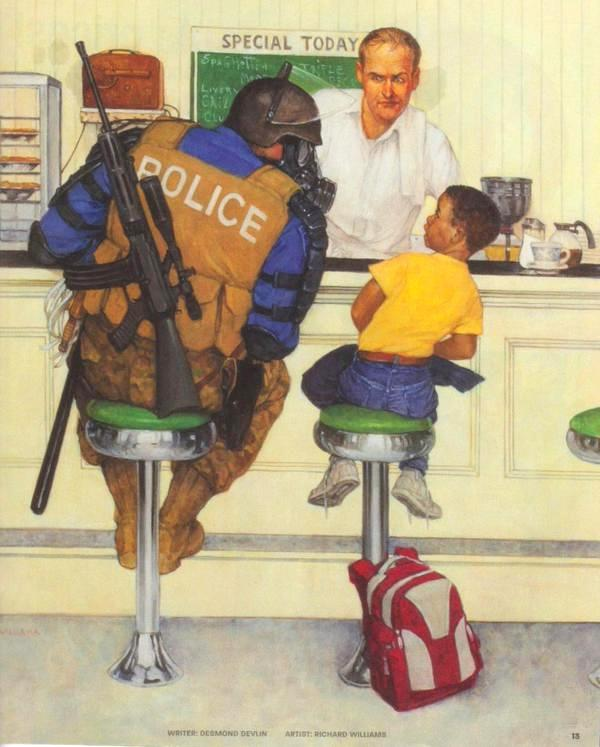 A modern Rockwell painting.