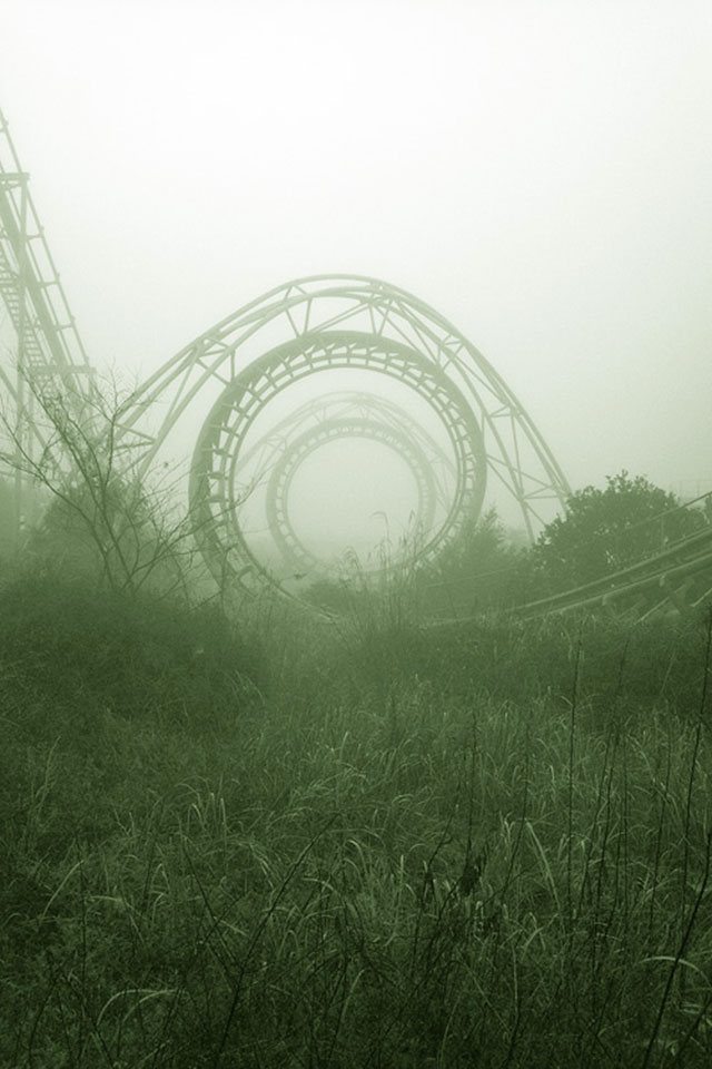 Abandoned rollarcoaster in Japan