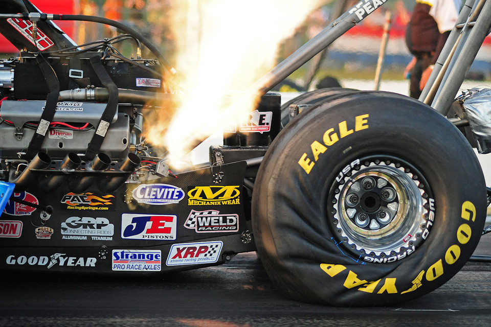Dragster Tire Wrinkle
