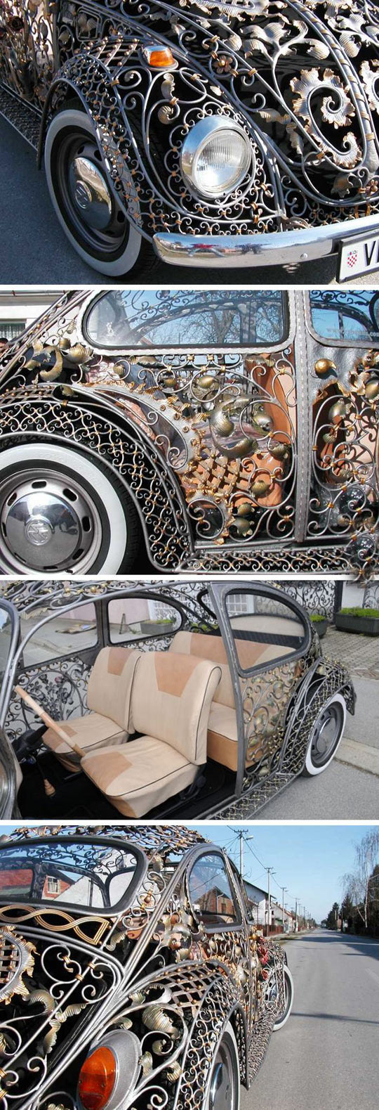 Incredible bug body from a Croatian metalwork shop…