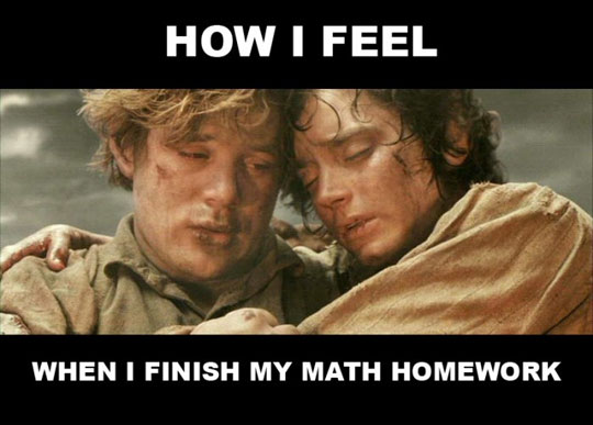 Math homework is done