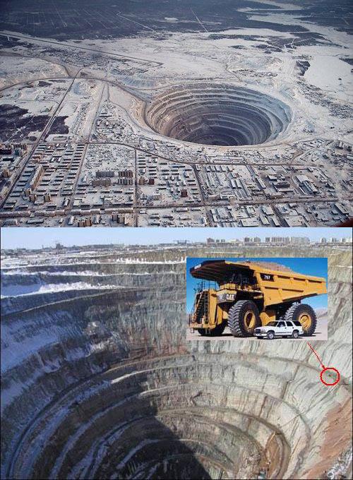 Mirny Diamond Mine in Siberia
