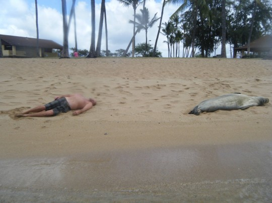 Passed Out on the Beach…
