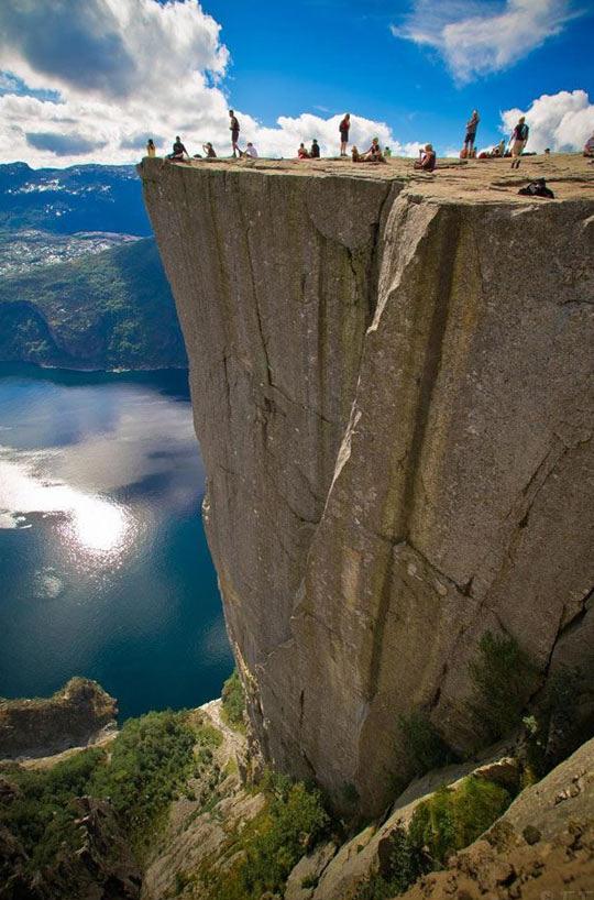Pulpit Rock in Norway…