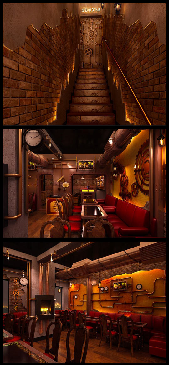 Steampunk restaurant in New Deli…