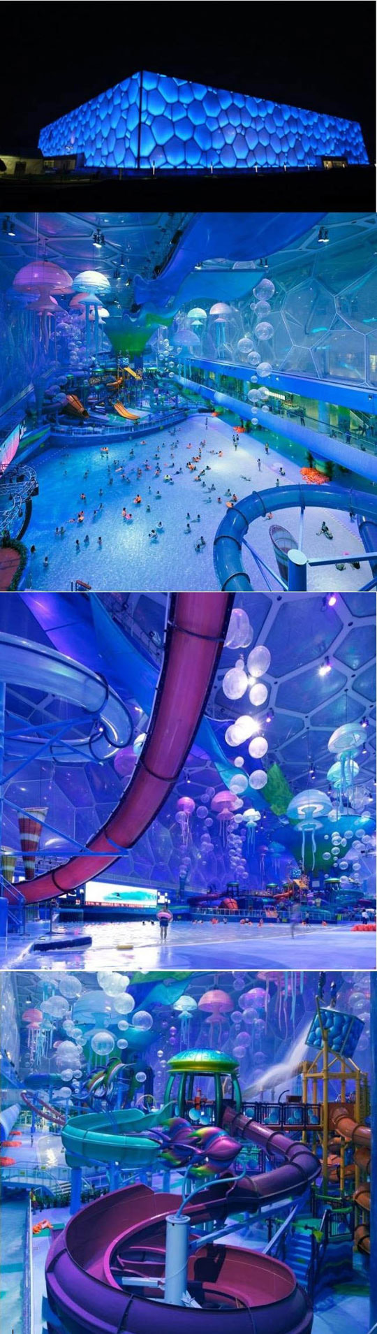 The China Olympic Cube turned into an indoor water park