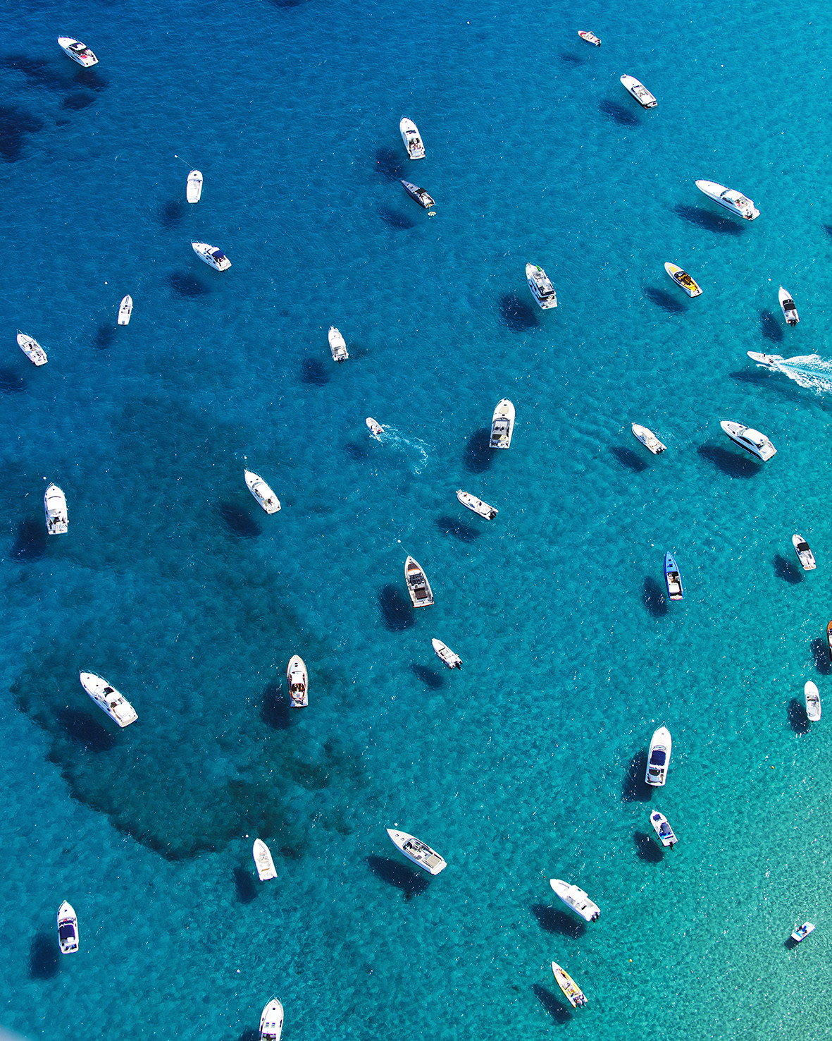 The clear waters of St. Tropez